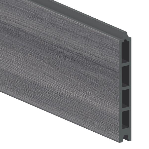 TraumGarten Einzelprofil System WPC Platinum grau - 15 x 2 x 178 cm