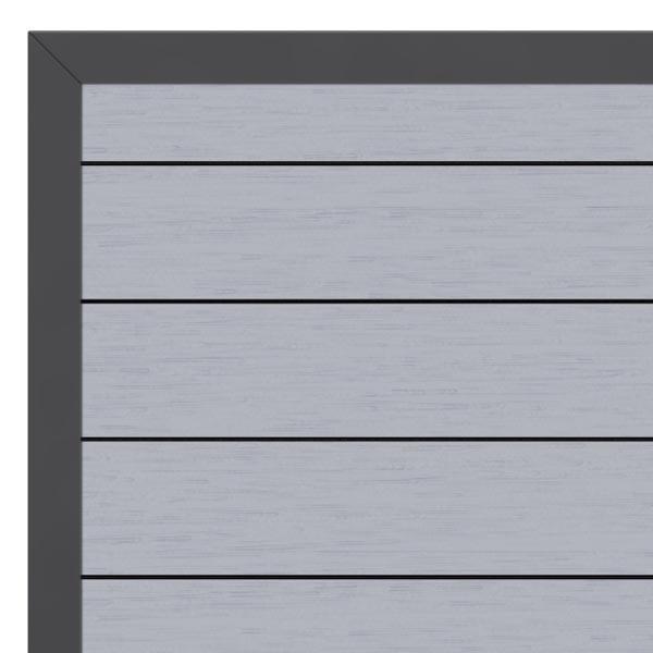 TraumGarten Gartentor System WPC DIN links grau / anthrazit - 98 x 179 cm