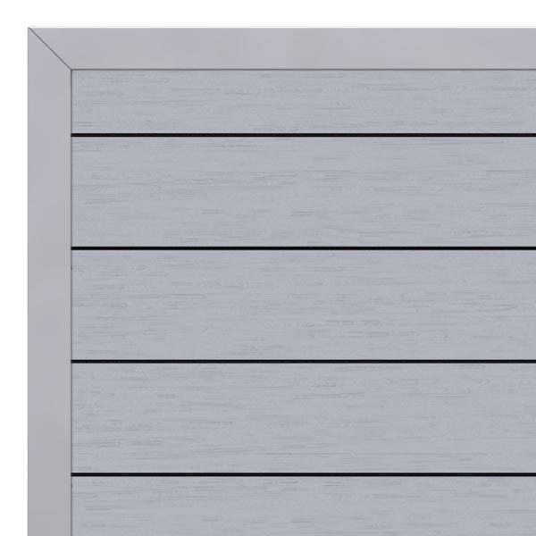 TraumGarten Gartentor System WPC DIN links grau / silber - 98 x 179 cm