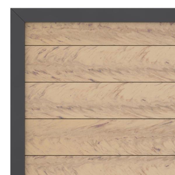 TraumGarten Gartentor System WPC DIN links sand / anthrazit - 98 x 179 cm