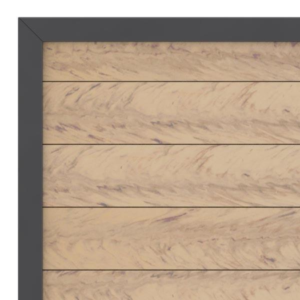 TraumGarten Gartentor System WPC DIN rechts sand / anthrazit - 98 x 179 cm