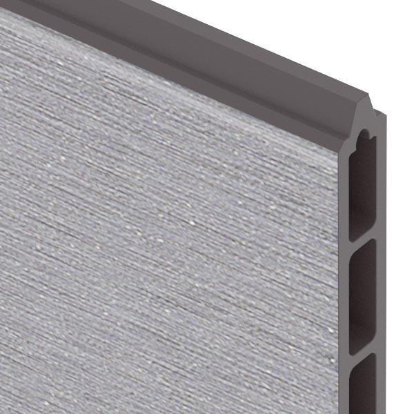 TraumGarten Einzelprofil System WPC XL grau - 30 x 2 x 178 cm