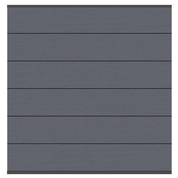 TraumGarten Sichtschutzzaun System WPC XL Set anthrazit / anthrazit - 178 x 183 cm