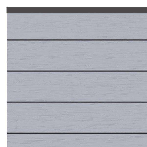 TraumGarten Sichtschutzzaun System WPC Set grau / anthrazit - 178 x 183 cm