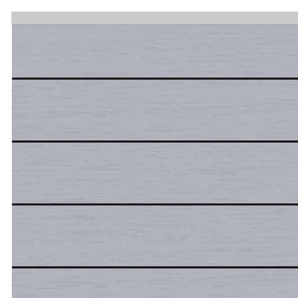 TraumGarten Sichtschutzzaun System WPC Set grau / silber - 178 x 183 cm