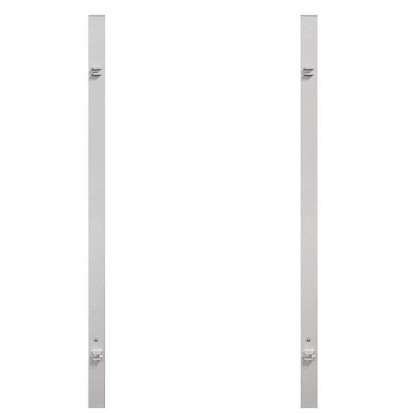 TraumGarten Torpfosten Universal Set silber für Doppeltore - 8 x 8 x 255 cm