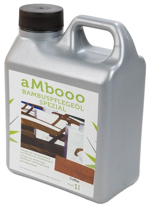 aMbooo Terrassendielen Bambus Pflegeöl 1,0 ltr.   Farbe Coffee