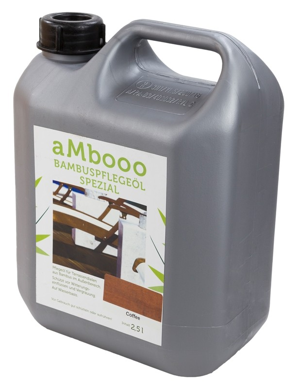 aMbooo Terrassendielen Bambus Pflegeöl 2,5 ltr. Farbe Coffee