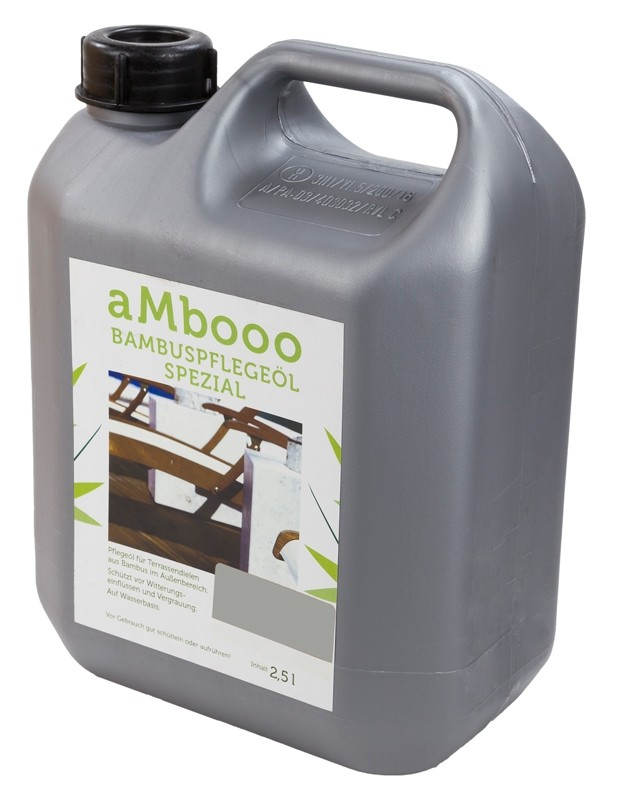 aMbooo Terrassendielen Bambus Pflegeöl 2,5 ltr.   Farbe Granit Grey