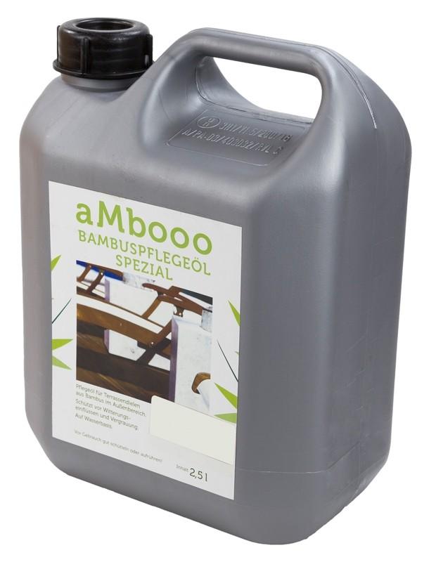 aMbooo Terrassendielen Bambus Pflegeöl 2,5 ltr.   Farbe White Oak