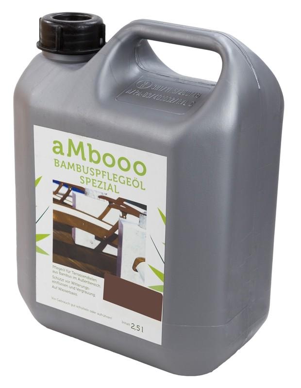 aMbooo Terrassendielen Bambus Pflegeöl 2,5 ltr. Farbe Espresso