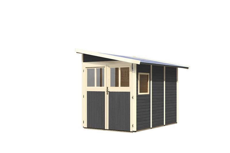 Karibu Gartenhaus Wandlitz 3 Pultdach 19 Mm System Terragrau