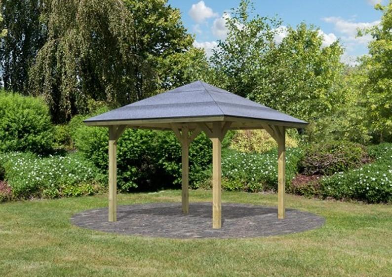 Karibu Holzpavillon Bergen 1 4-Eck-Pavillon Classic - kdi