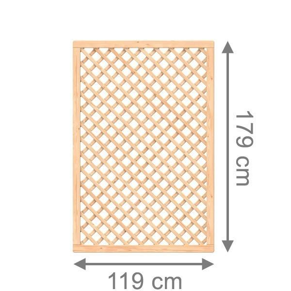TraumGarten Rankgitter Sibirische Lärche Rechteck naturbelassen - 119 x 179 cm