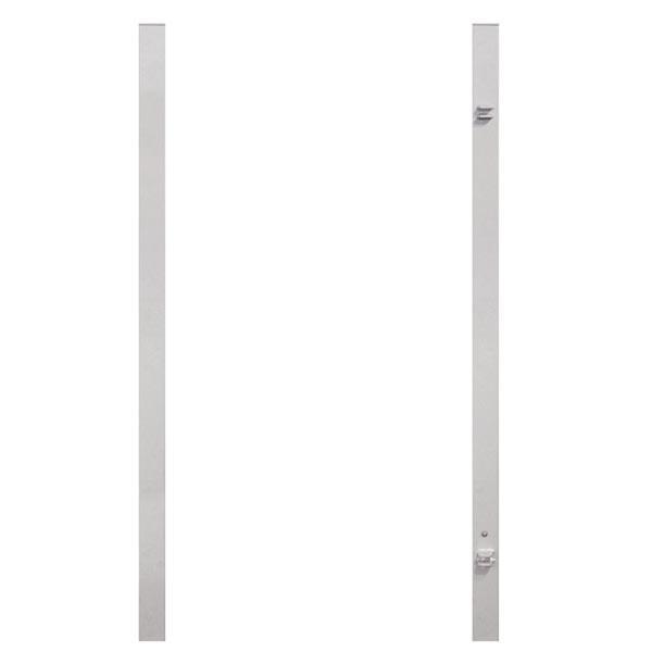 TraumGarten Torpfosten-Set Universal silber - 8 x 8 x 255 cm