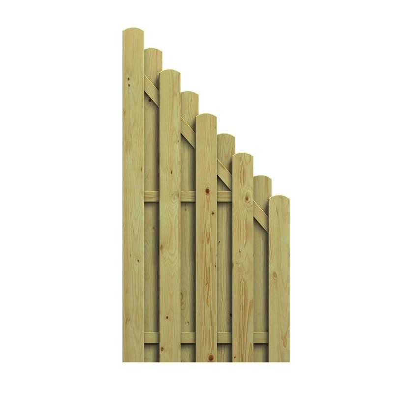 TraumGarten Sichtschutzzaun Nadelholz Jumbo Anschluss kdi - 89 x 179 auf 90 cm