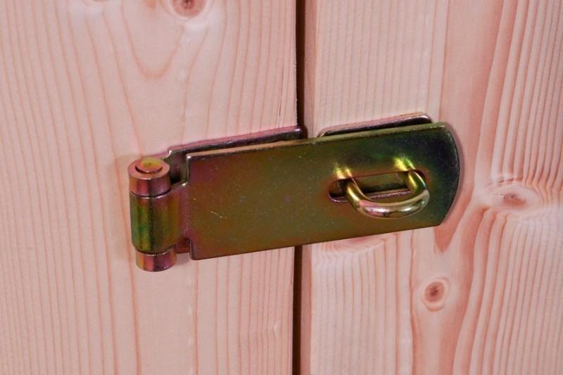 Woodfeeling Holz-Gartenhaus Askola 6 Pultdach 19 mm System inkl. Schleppdach - natur