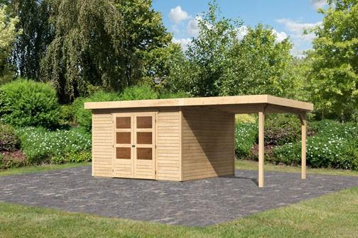 Woodfeeling Gartenhaus Askola 6 Pultdach 19 mm System inkl ...