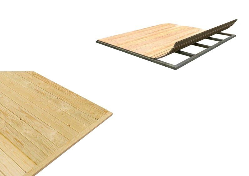 Woodfeeling Fußboden für Sockelmaß 180 x 152 cm - natur