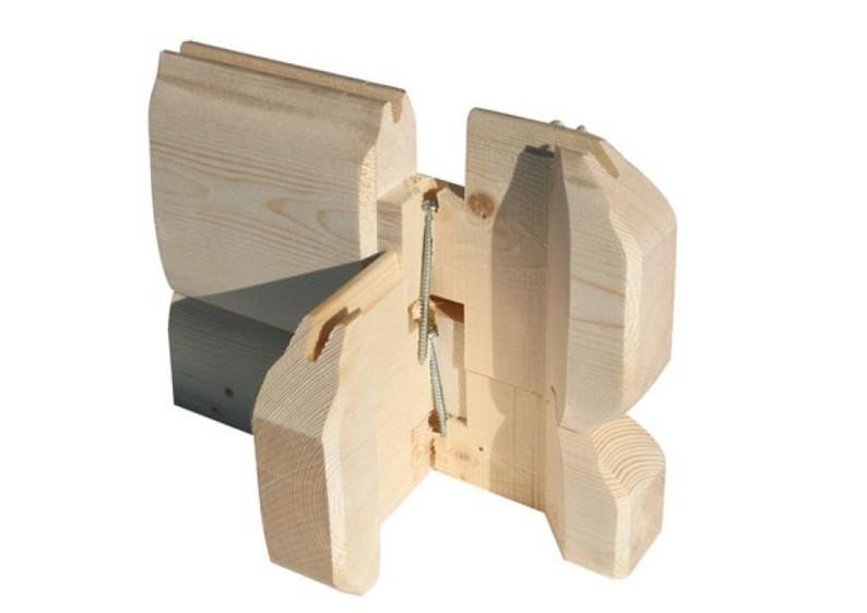 Karibu Holzgarage mit Flachdach 40 mm - naturbelassen