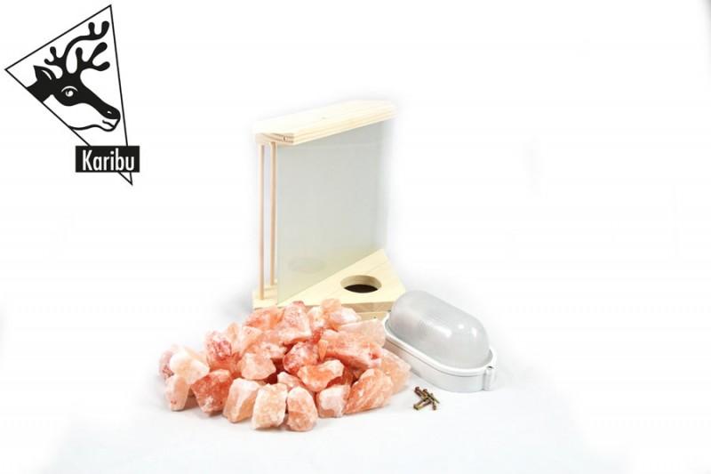 Karibu Leuchte Salzkristall inkl. 3 kg Steine