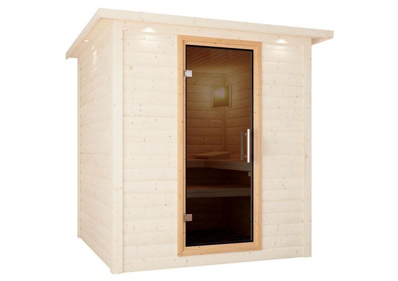 Karibu Sauna Türelement easy für Sauna Wandstärke 68 mm