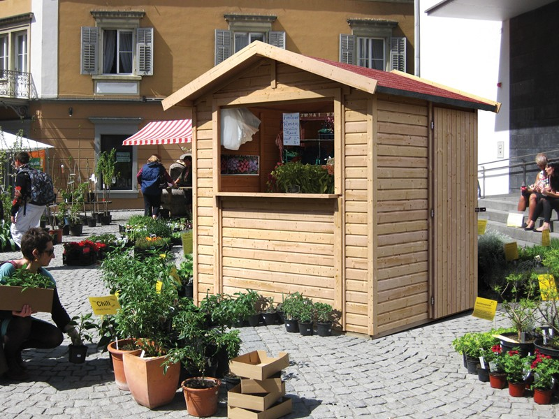 Woodfeeling Marktstand Verkaufshaus 1
