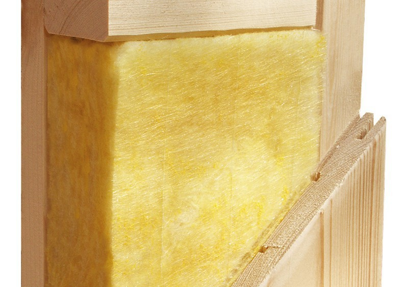 Karibu Heimsauna Carin (Eckeinstieg) Ofen 9 kW Bio externe Strg easy mit Dachkranz 68 mm Systemsauna