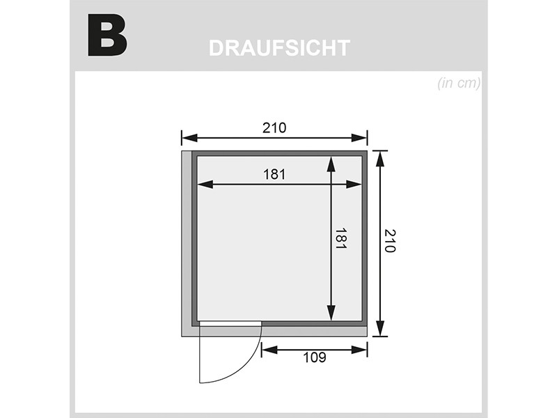 Karibu 68mm Systembausauna Rodin - Fronteinstieg - Energiespartür - mit Dachkranz