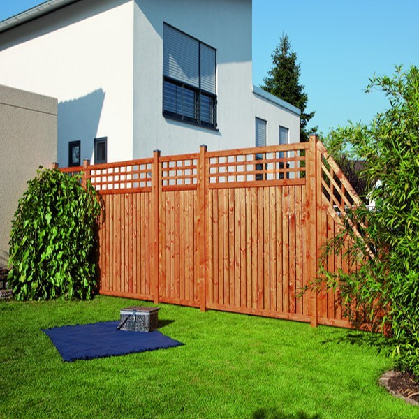 TraumGarten Gartentor Nadelholz Como mit Gitter braun lasiert - 98 x 179 cm