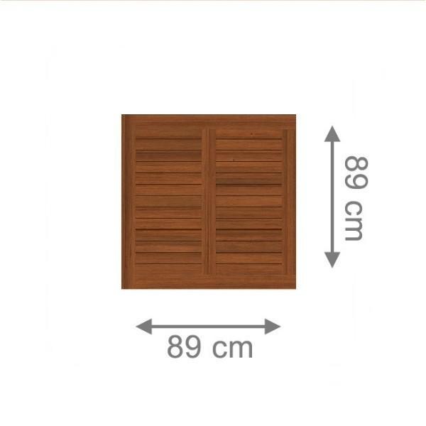 TraumGarten Vorgartenzaun Holz Grazia Rechteck braun lasiert - 89 x 89 cm