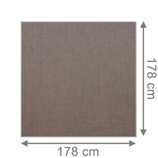 TraumGarten Sichtschutzzaun Textil-Geflecht Weave LÜX Rechteck bronze - 178 x 178 cm