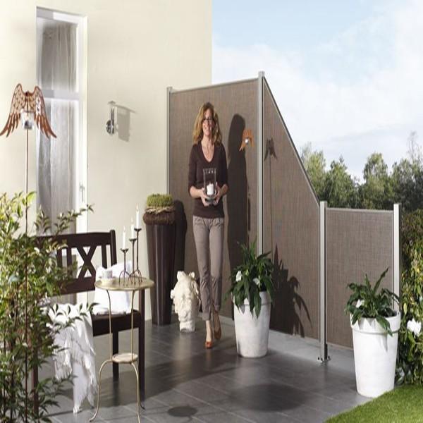 TraumGarten Sichtschutzzaun Weave LÜX Rechteck bronze - 178 x 178 cm
