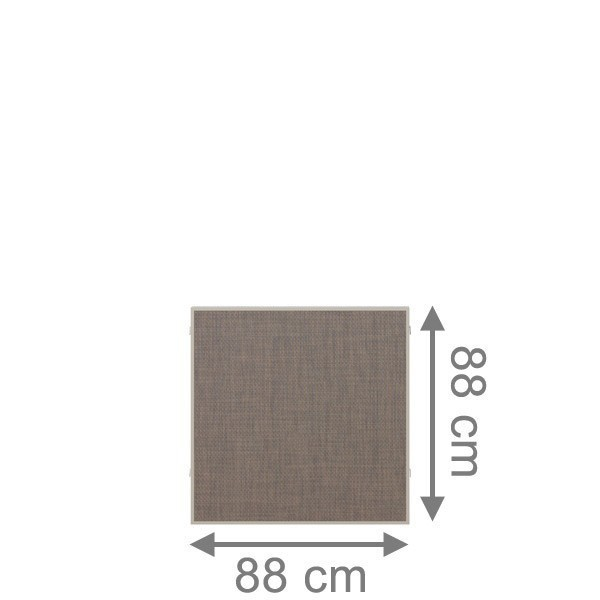 TraumGarten Sichtschutzzaun Textil-Geflecht Weave LÜX Rechteck bronze - 88 x 88 cm