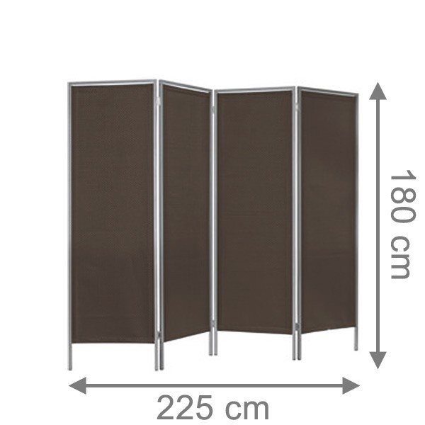 TraumGarten Paravent Weave LÜX bronze - 225 x 180 cm