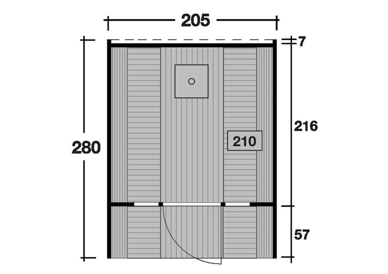 Wolff Finnhaus Saunafass 280 Selbst-Bausatz - inkl. schwarzen Dachschindeln - Gartensauna Ø205 x 280 cm