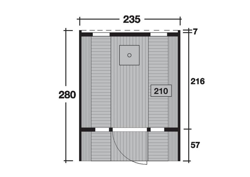 Wolff Finnhaus Saunafass 280 de luxe Selbst-Bausatz - Fichte inkl. Schindeln ohne Ofen - Maße: Ø235 x 280 cm