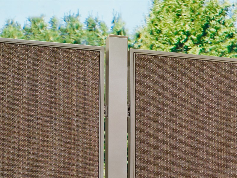 TraumGarten Zaunpfosten Weave bronze - 6 x 6 x 240 cm
