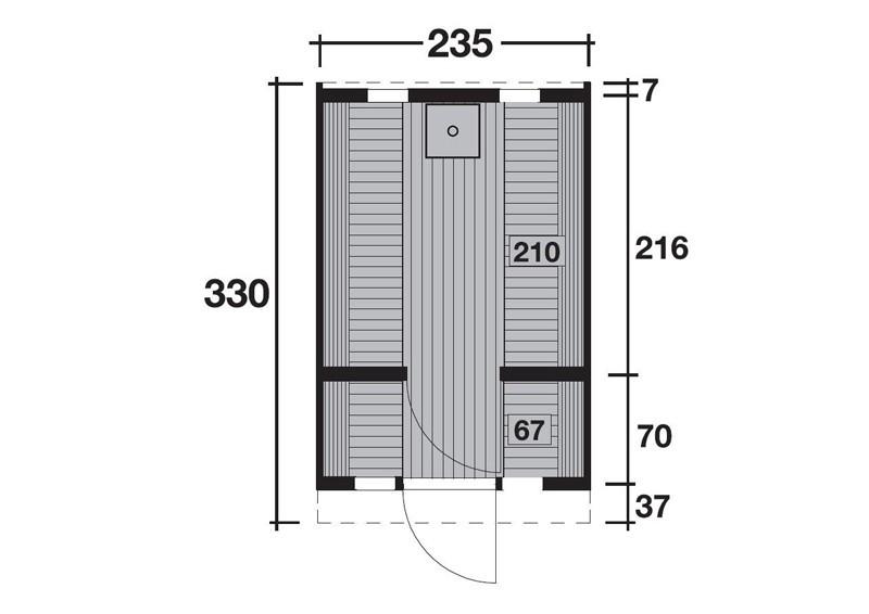 Wolff Finnhaus Saunafass 330 de luxe vormontiert - Thermoholz inkl. Schindeln ohne Ofen - Maße: Ø235 x 330 cm