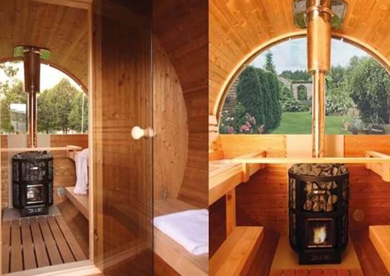 Wolff Finnhaus halbrundglas Fenster für Saunafass