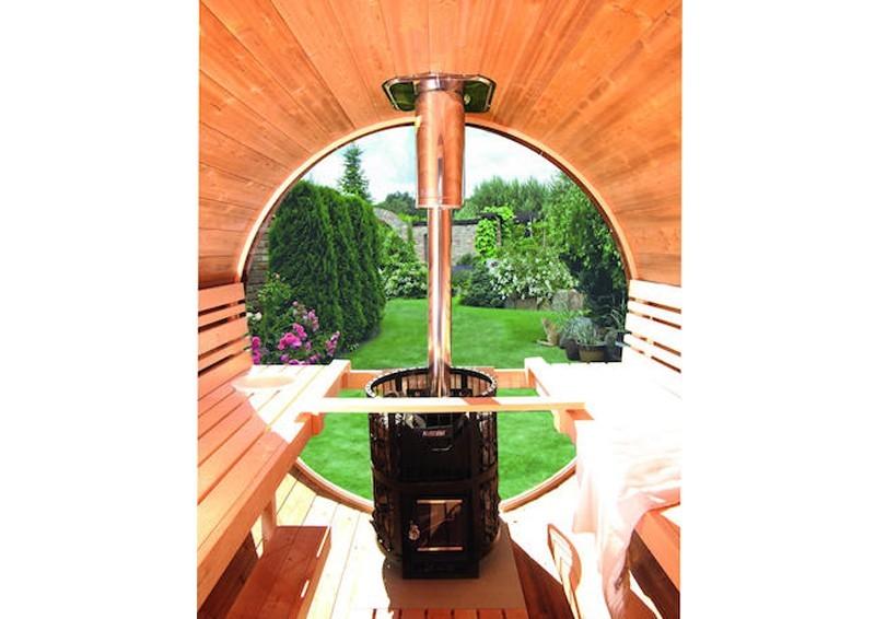 Wolff Finnhaus Rundglas Fenster für Saunafass
