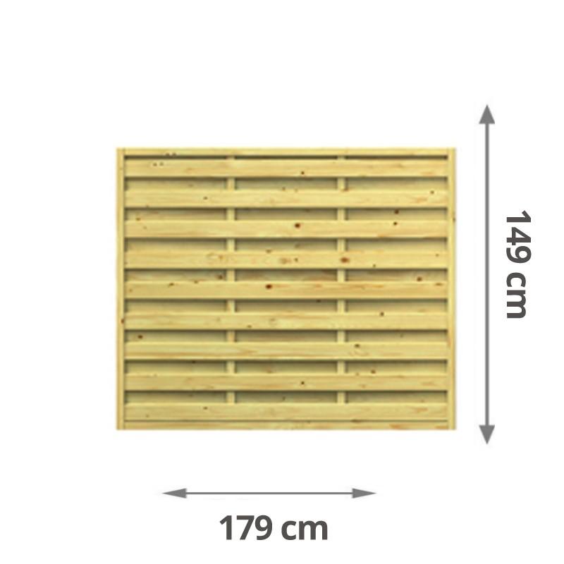 TraumGarten Sichtschutzzaun Lettland Rechteck kdi - 179 x 149 cm