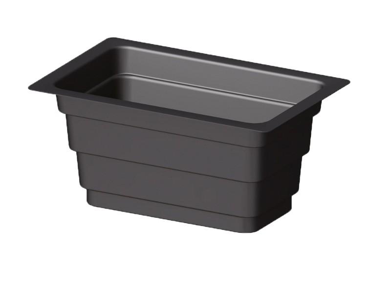 TraumGarten Einsatz für Pflanzkasten schwarz - 60 x 120 cm