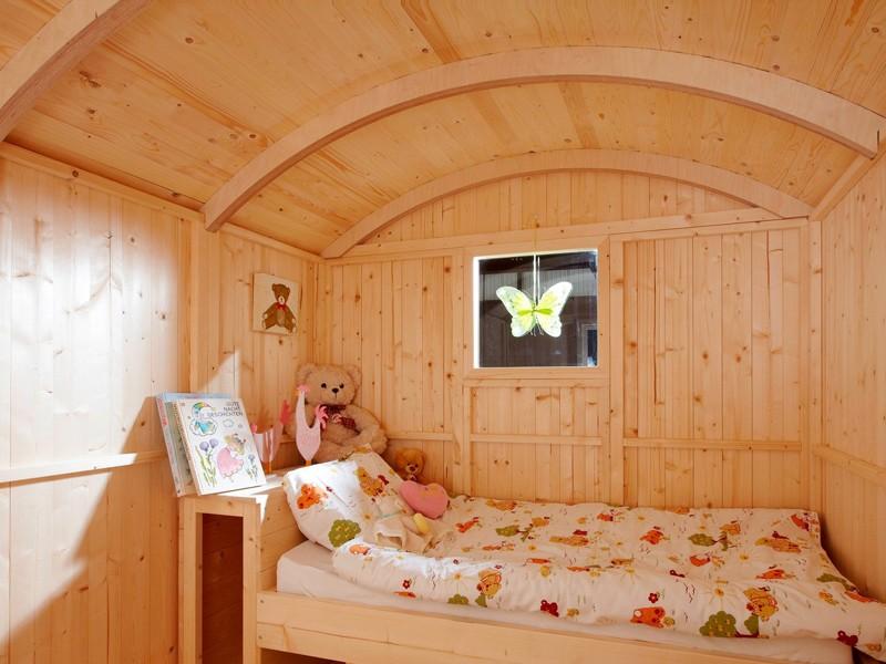 Wolff Finnhaus Camping Bauwagen aus Holz - 277 x 193 x 240 cm - Stelzenhaus