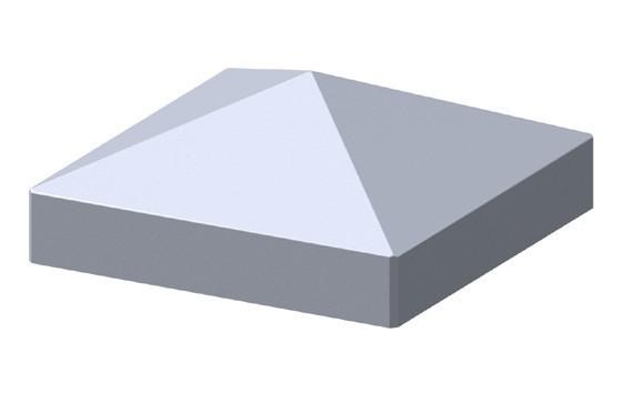 TraumGarten Pfostenkappe Longlife Metalloptik Pyramide - 8 x 8 cm