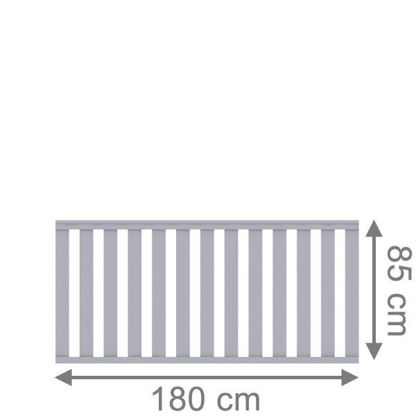 TraumGarten Vorgartenzaun Kunststoff Longlife Cleo Rechteck grau - 180 x 85 cm