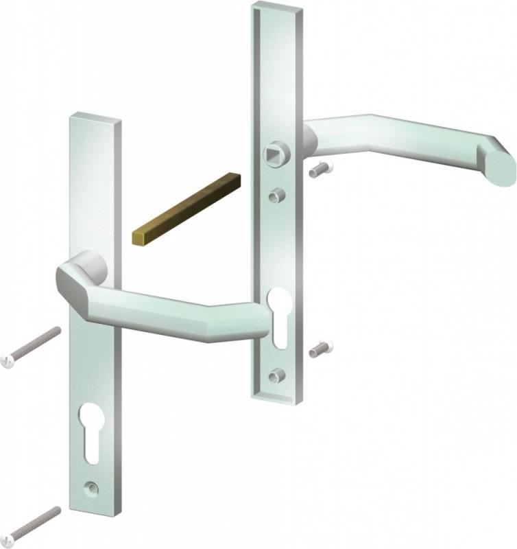 TraumGarten Drückergarnitur Aluminium Klinken-/Klinkenausführung - Universal