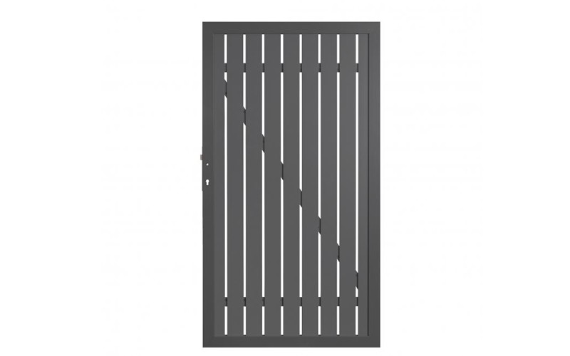 TraumGarten Gartentor Squadra DIN Links anthrazit/anthrazit 180 x 98 x 4 cm