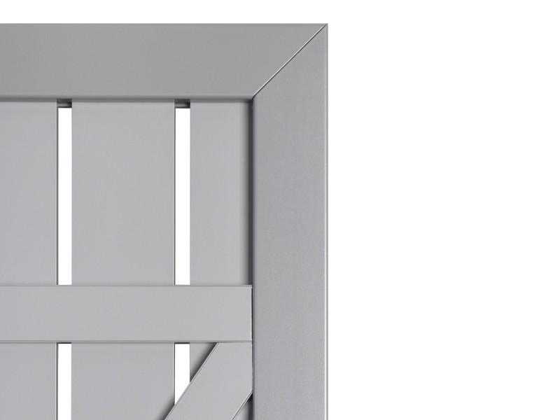 TraumGarten Sichtschutzzaun Tor Squadra DIN Rechts lichtgrau/lichtgrau - 180 x 98 x 4 cm