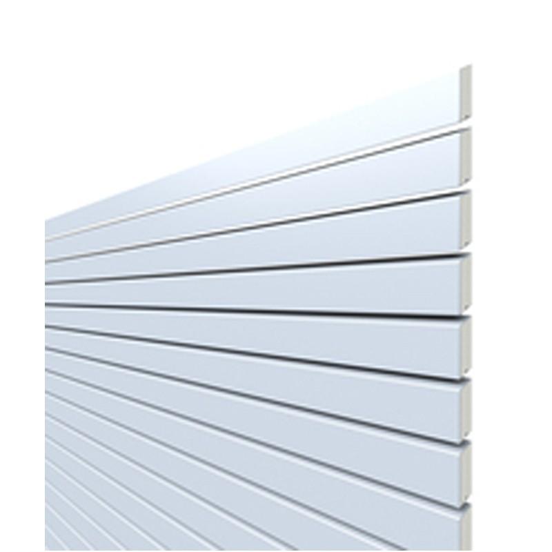 TraumGarten Sichtschutzzaun System Rhombus Metall Rechteck silber - 60 x 180 cm